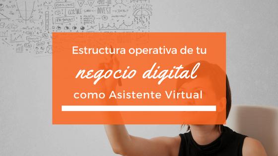 Estructura operativa de tu negocio digital como Asistente Virtual